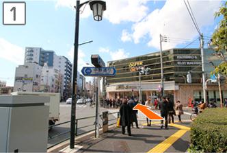 新中野駅からお越しの場合