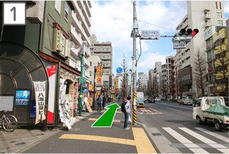 東高円寺駅からお越しの場合